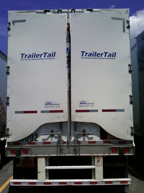 Keeping those trailer tail panels closed when parked on a lot.