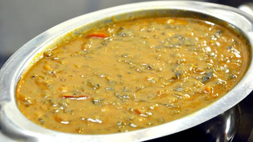 Dal Palak is ready to be served