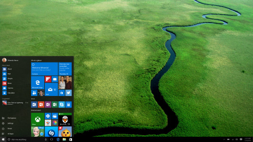 """The old, familiar Start Menu is now the """"New"""" on Windows 10. Microsoft has banished the Metro Screen, reverting back to the tried-and-true desktop."""