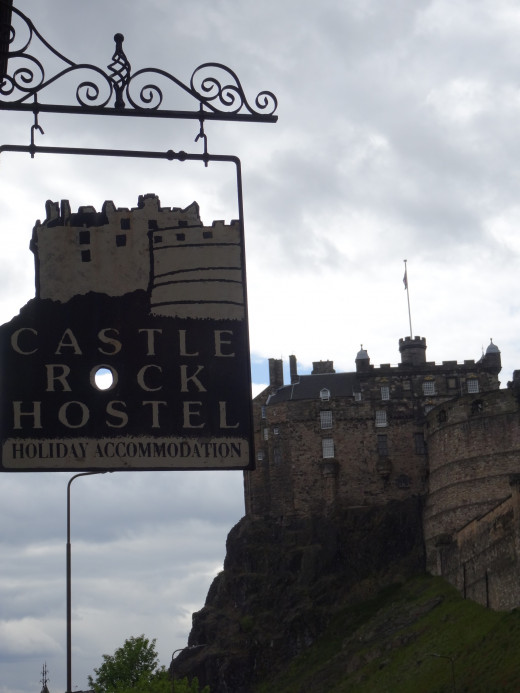 Castlerock hostel is just below Edinburgh Castle. I took this shot from the door of the hostel.