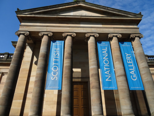 The Scottish National Gallery has an incredible amount of art with some enormous paintings.