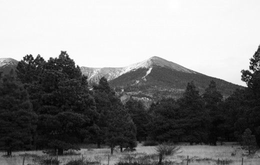Humphrey's Peak from a campsite in the Coconino National Forest near Flagstaff, Arizona.