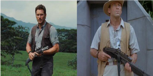 Both wear safari jackets, both are the only protagonists that really use firearms (to little effect), and both are connected pretty strongly to the raptors (for better, or worse).