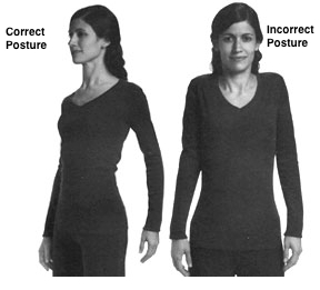 Relaxing your arms helps to keep you from looking tense.
