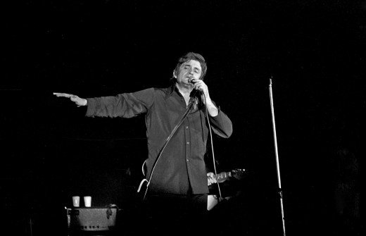 Johnny Cash singing in Bremen, Germany in September 1972.  Cash is one of the great American icons, his popularity spans across almost all age groups, musical genres and social groups.