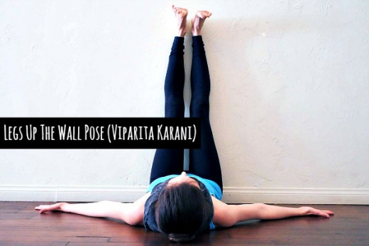 Legs Up The Wall Pose (Viparita Karani) helps release tension in lower body.