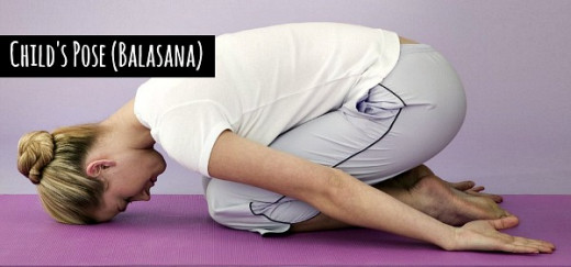 Child's Pose (Balasana) releases all type of stress and anxiety from the mind - YogaLily