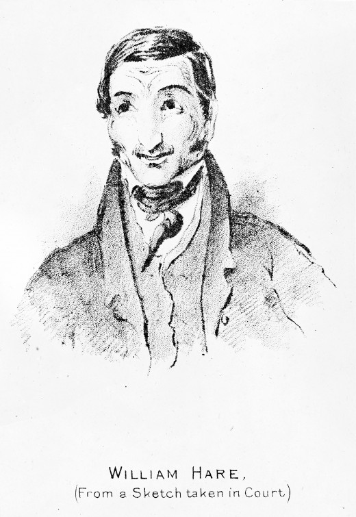 William Hare, from a sketch taken at the trial