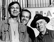 Main characters of MASH - Hawkeye, BJ and Colonel Potter