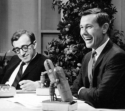 Johnny Carson and guest Woody Allen, 1964