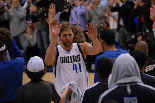 Dirk is nearing the end of his run.