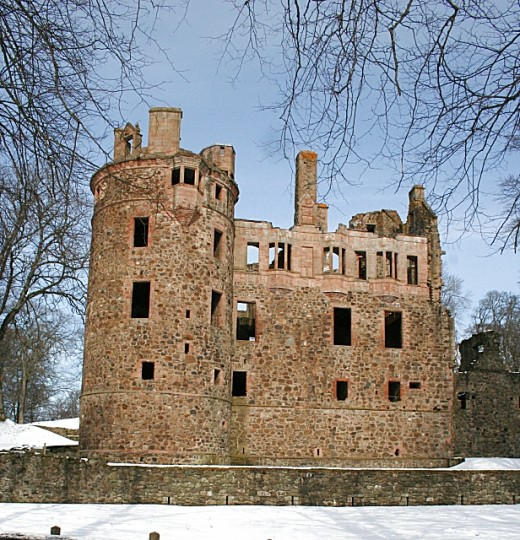 Huntly Castle in Scotland - this beautiful ruin is said to be home to a number of ghosts.