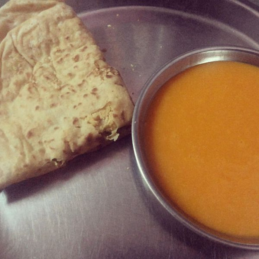 Puran Polis served with aamras