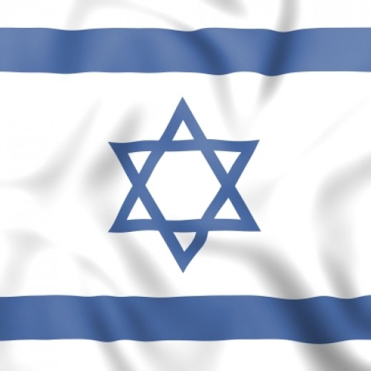 Israel Flag Indicating Middle East And Jewish.