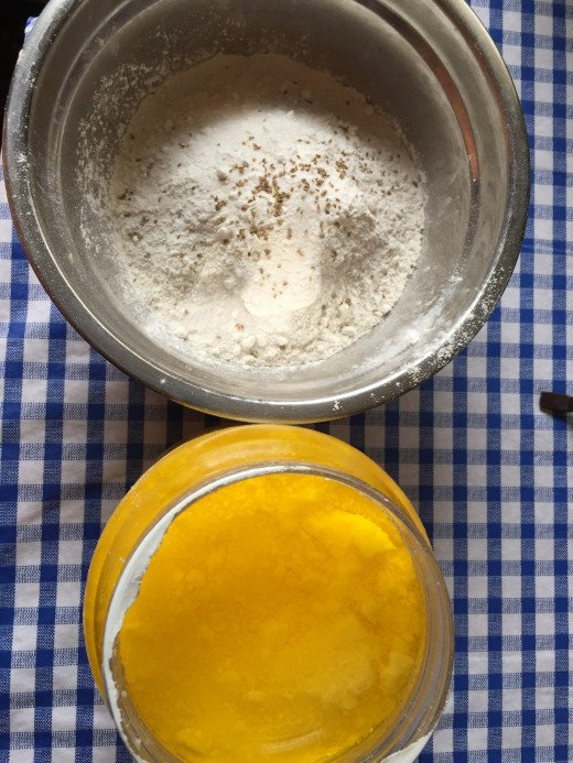 Ghee or clarified butter works best when makin dough.