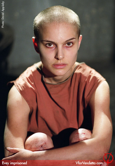 Evey portrayed by Natalie Portman