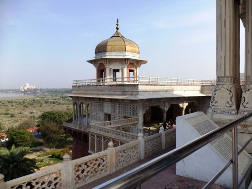 Emperor Shah Jahan's Lookout, Red Fort, Agra
