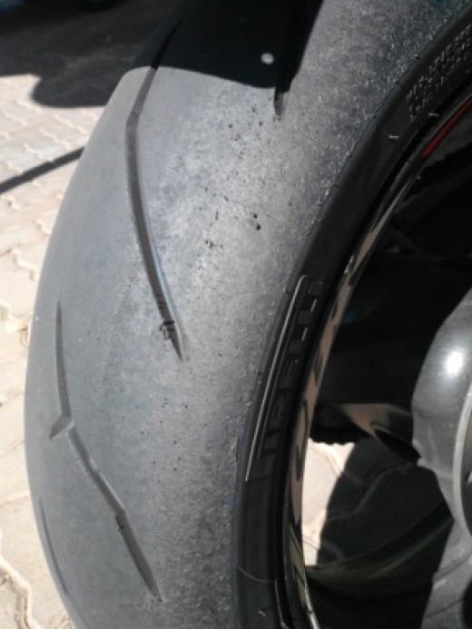 Pirelli Rossa Corsa after 1 x 20 minute session.