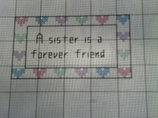 Simple cross stitch and back stitch pattern by koffklatchgals