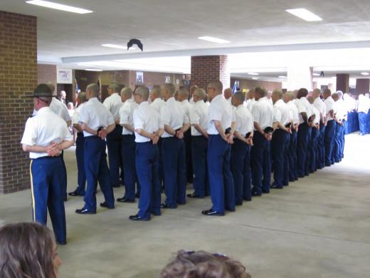 Graduation at Fort Benning.
