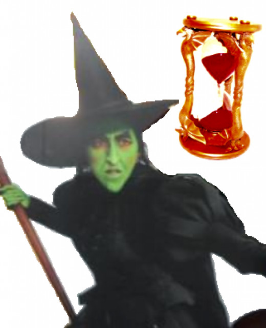 Wicked Witch of the West and her Hourglass