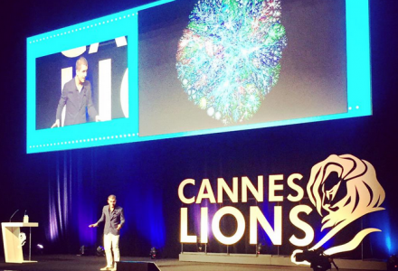 Cox speaking at Cannes Lions 2015