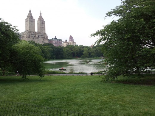 City parks, like Central Park in New York City,  often provide shady paths for runners and joggers for hot-weather workouts.