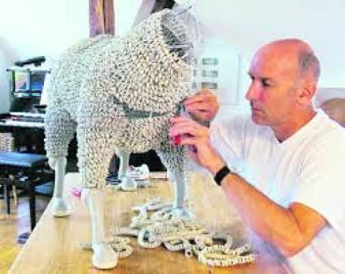 Sculpting.