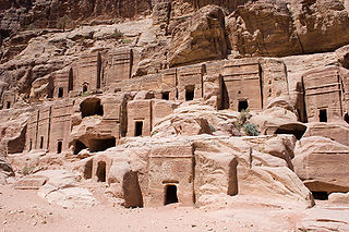 Dwellings Carved into the Sandstone, Petra