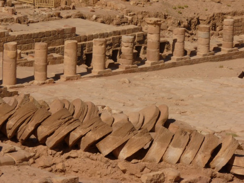 Excavation of Roman Archeological Site in Petra