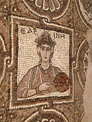 Picture of A Woman in Byzantine Church, Petra