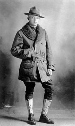 """The wartime """"Dough Boy"""" circa 1918."""