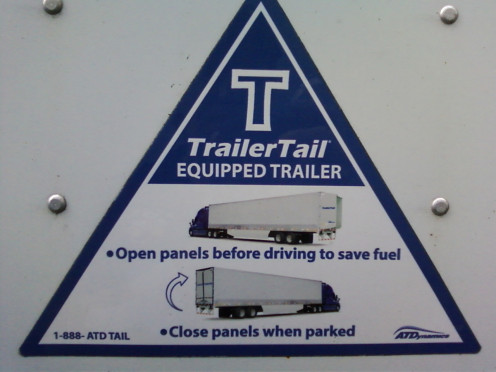Easy to read directions on the side of each trailer.