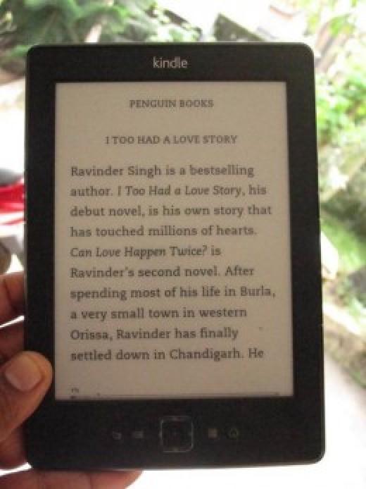 My Kindle e-Reader (basic model)