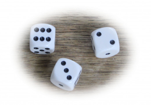 This would be three of the six dice needed to play 10,000