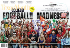 "This magazine lay-out summed it up best: ""Football Madness."""