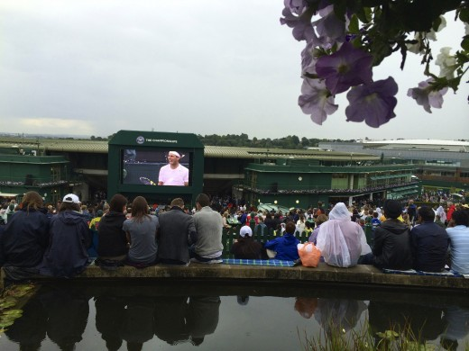 A little rain will never stop tennis fans at Wimbledon!