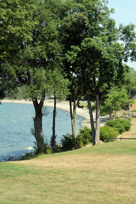 Just one of the many beaches surround Sodus Bay