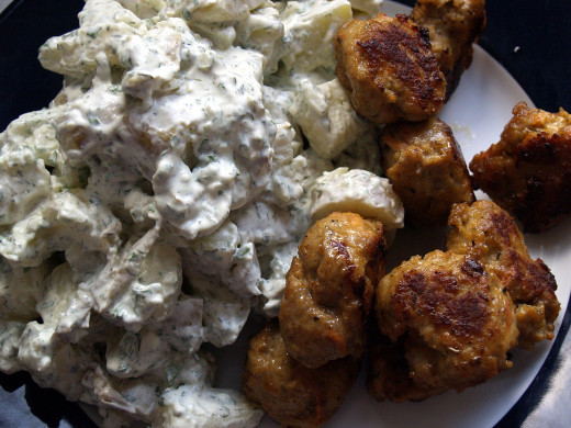 The classic potato salad can be made perfect by using fresh herbs and a homemade mayonnaise.