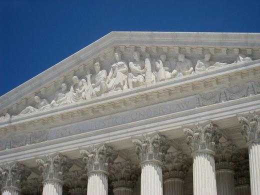 """Liberty Enthroned"" by Robert Aitken, US Supreme Court, Washington, DC, USA."