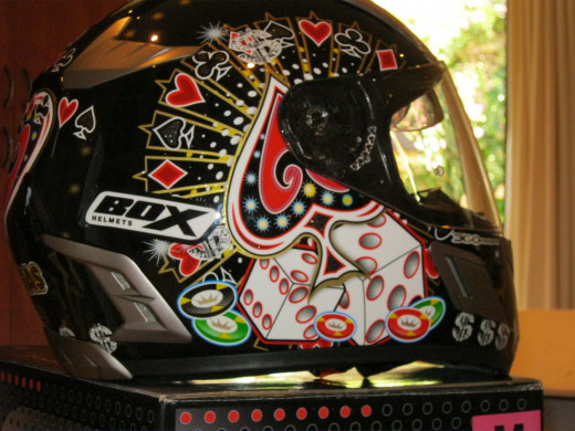 Box360 Full face helmet poker edition