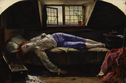 'Chatterton' by Henry Wallis 1856