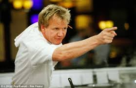 Gordon Ramsay has a hot temper that can be triggered by a breath.