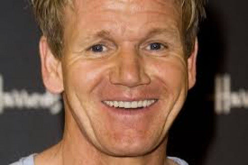 A rare moment: Gordon Ramsay breaking into a smile.
