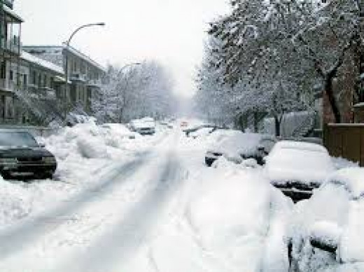 A picture after a bad snow storm