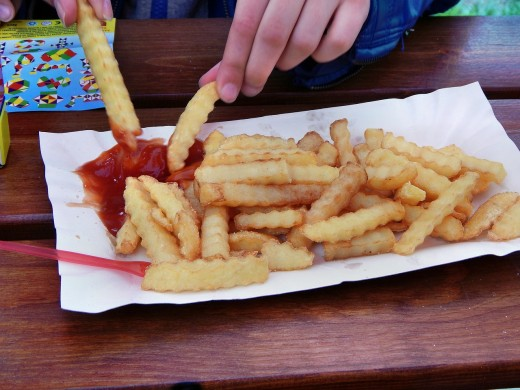 Request a small, not large, order of french fries to keep fat and calories down.