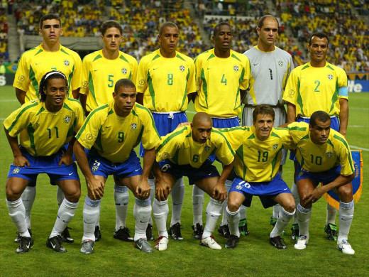 Golden Brazilian Team that won the 2002 Korea/Japan World Cup