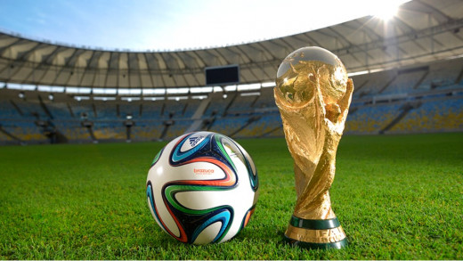 Brazuca Football and World Cup Trophy
