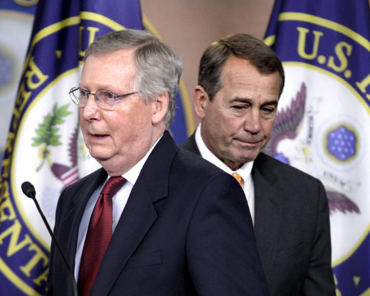 Mitch McConnell and John Boehner.