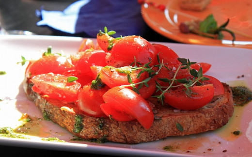 A lovely and fast entree: Bruschetta